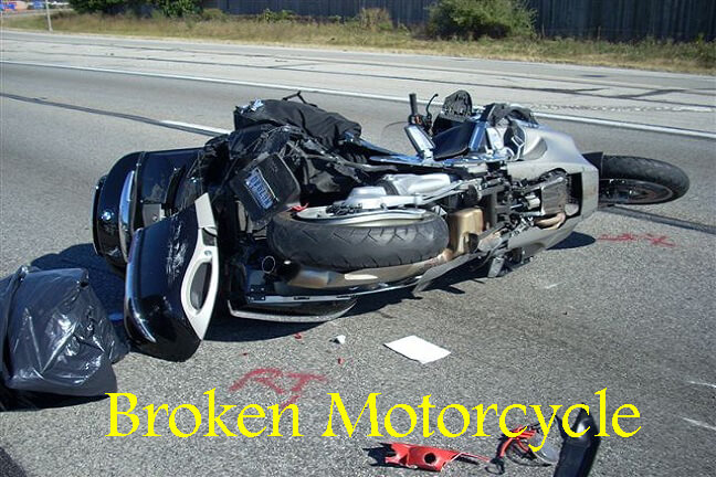 broken motorcycle towing